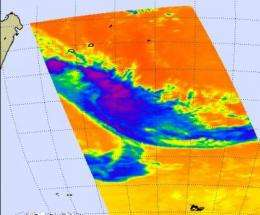 NASA's Aqua Satellite sees Tropical Depression Fami fading fast