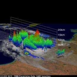 NASA's TRMM satellite doesn't need 3-D glasses for Magda