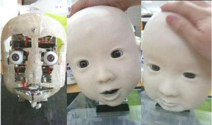 Affetto: a realistic robot baby is looking at you (w/ Video)