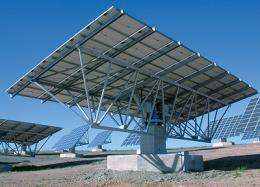 Solar panels track the sun for more efficiency