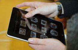 A customer uses an iPad