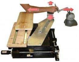 A high-tech handrest