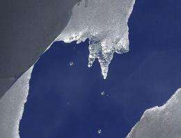 A melting glacier in Ecuador