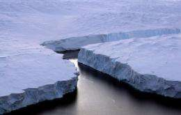 An enormous iceberg breaks off the Knox Coast in the Australian Antarctic Territory