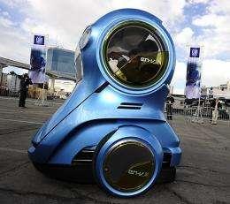 An EN-V Xiao (Smile), an urban mobility concept from GM