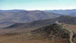 An ESO telescope in the Atacama desert in northern Chile