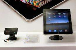 An iPad is displayed at a Verizon store