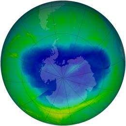 Antarctic Ozone Hole 2010