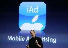Apple CEO Steve Jobs announces iAd