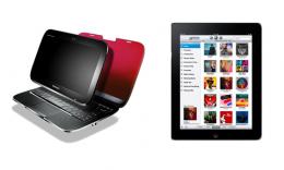 Apple's iPad Vs Lenovo's IdeaPad U1Hybrid Notebook