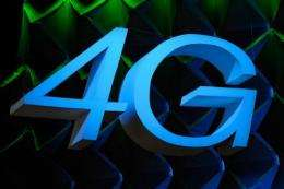 A sign for 4G (for fourth generation of cellular wireless standards)
