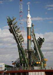 A Soyuz TMA-01M spacecraft