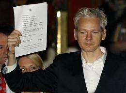 Assange free from prison, back to leaking secrets (AP)