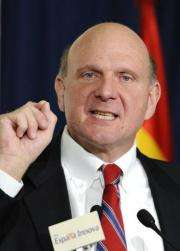 Ballmer was quizzed about a report that he had discussed with Adobe possibly partnering with or even purchasing the firm