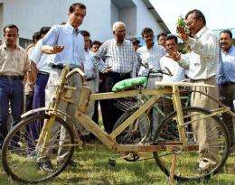 Bamboo bikes are becoming popular in Ghana
