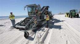 BP deep-cleaning Gulf beaches amid new worries (AP)