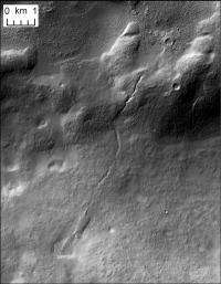 Brown team finds widespread glacial meltwater valleys on Mars