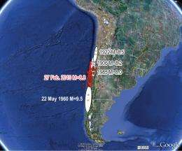 Chile quake occurred in zone of 'increased stress'