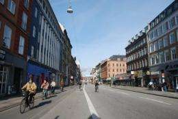 Copenhagen stands out for its cycling infrastructure, counting more than 390 km (242 miles) of bike paths
