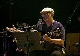 Cuban folk star Silvio Rodriguez