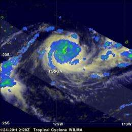 Cyclone Wilma's eye catches attention of NASA satellites