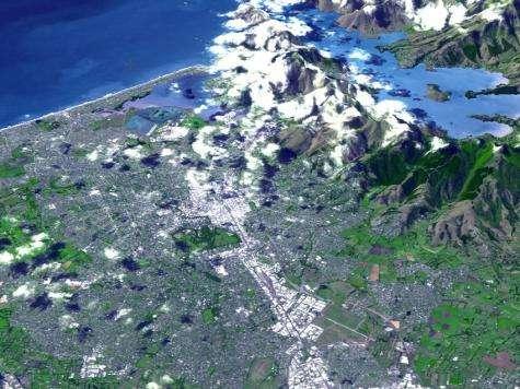 New Zealand quake region as seen by NASA spacecraft