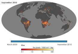 Earth's fiery past and future modeled by NASA