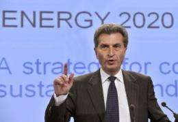 EU Energy Commissioner Guenther Oettinger called for the bloc to coordinate its energy policy with other countries