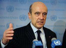 French Defence Minister Alain Juppé