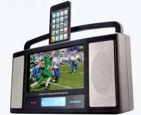 Gadgets: Chinon docking sound system has LCD display for video
