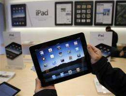 High hopes for iPad push Apple shares near $300 (AP)