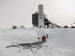 IceCube neutrino observatory nears complete