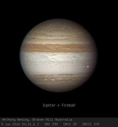 Amateur astronomer spots another Jupiter strike