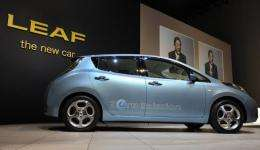 "Japan's Nissan Motor Electric Vehicle ""LEAF"""