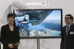 LG puts hopes on 'next generation' 3-D TV (AP)