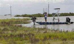 Little spent on oil spill cleanup technology (AP)