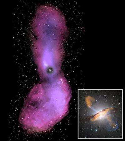 The impact of double black holes and radio galaxies in the Milky Way