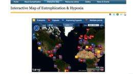 Marine 'dead zones' tracked by new web-based map