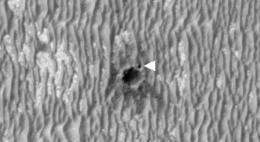 Mars Rover Examines Odd Material at Small, Young Crater