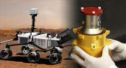 Mars Rover sensor to measure radiation environment