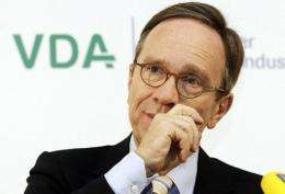 Matthias Wissmann, president of the VDA federation of the German automotive industry