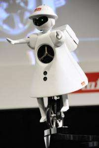 Murata Electronics displays its unicycling robot