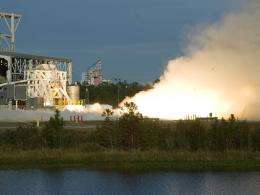 New rocket enginefired by NASA for commercial space vehicle