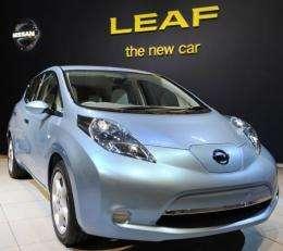 Nissan's electric vehicle Leaf