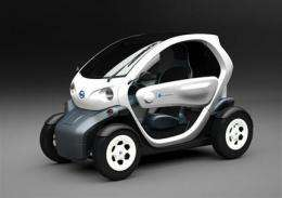 Nissan shows tiny electric concept vehicle (AP)