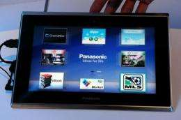Panasonic's prototype Viera Tablet that runs on Android 2.2 is displayed on January 6 in Las Vegas