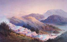 """Part of New Zealand's submerged """"Pink Terraces"""
