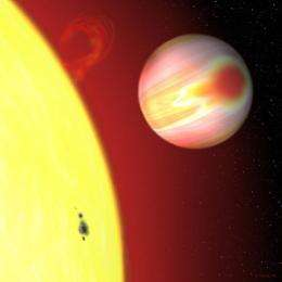 Planet affects a star's spin