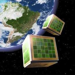 Powering cube satellites
