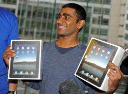 Rahul Koduri, who queued for some 30 hours, became the first to buy the touch-screen computer in Sydney